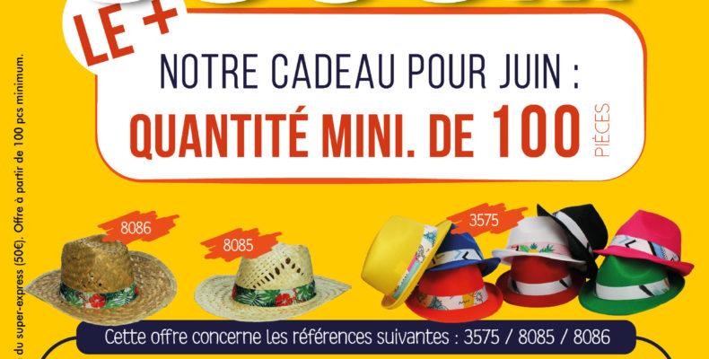 Promotion chapeaux personnalisés